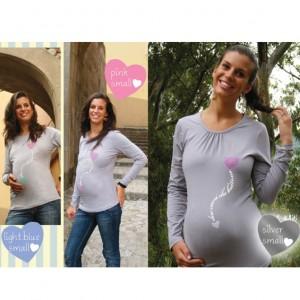 f62b7aa0dd14 Magliette premaman cotone jersey